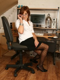 All Over 30 – Sexy Redhead Mature Babe Georgie At Work